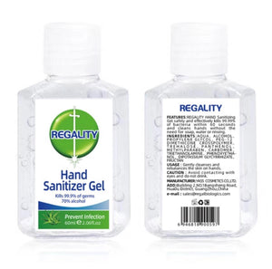 3/5/10/20 Pcs of 2.06 OZ Top Quality Hand Sanitizer 70% Alcohol, Aloe Scent, Vitamin E
