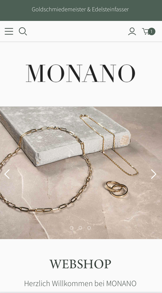 Monano  RELAUNCH | Die neue Website inklusive E-Shop |