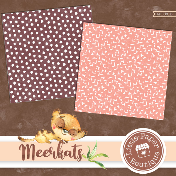 African Meerkat Watercolor Digital Paper LPB001B