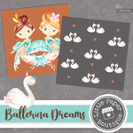 Ballerina Dreams Digital Paper LPB1014