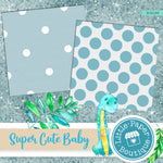 Super Cute Baby Digital Paper RCS133