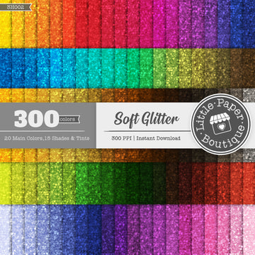 Rainbow Soft Glitter Digital Paper 3H002