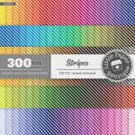 Rainbow Stripes Digital Paper 3H004
