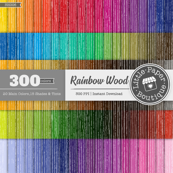 Rainbow Wood Digital Paper 3H006