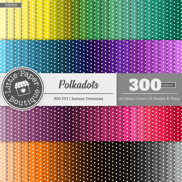 Rainbow Polka Dots Digital Paper 3H009