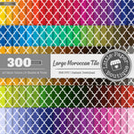 Rainbow Large Moroccan Tile Digital Paper 3H011