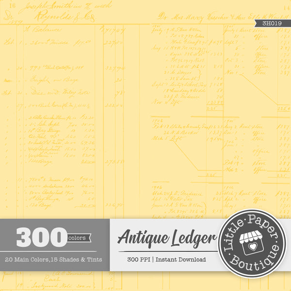 Rainbow Antique Ledger White Digital Paper 3H019