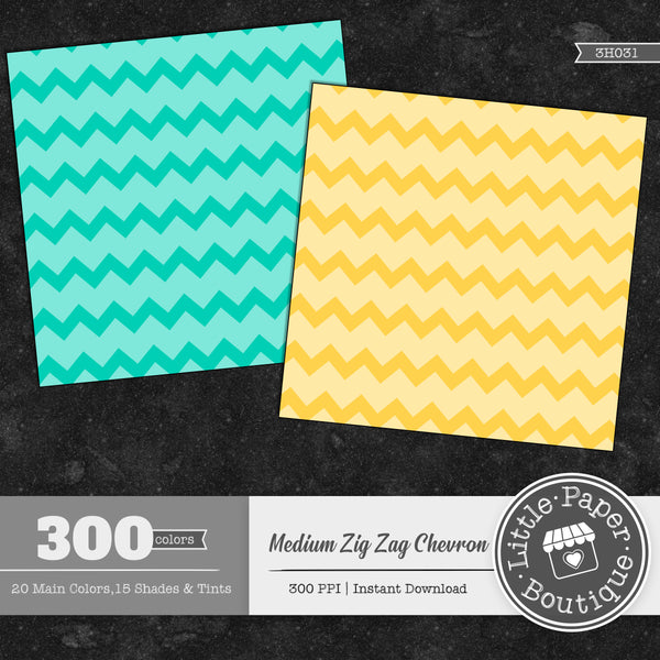 Rainbow Medium Zig Zag Chevron White Digital Paper 3H031