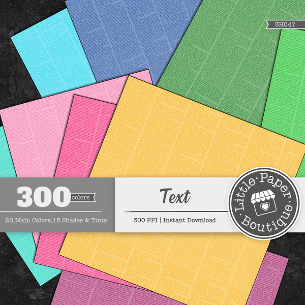 Rainbow Text Digital Paper 3H047