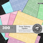 Rainbow Dream Dictionary Definition Digital Paper 3H053