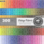 Rainbow Vintage Fabric Digital Paper 3H058