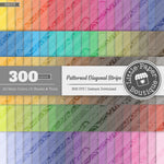Rainbow Patterned Diagonal Stripe Overlay Digital Paper 3H073