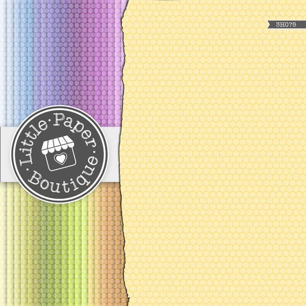 Rainbow Tiny Circles White Overlay Digital Paper 3H075