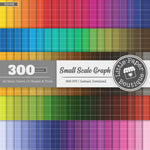 Rainbow Small Scale Solid Graph Digital Paper 3H098