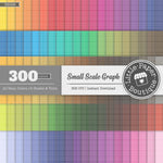 Rainbow Small Scale Outline Graph Digital Paper 3H099
