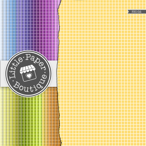 Rainbow Solid Graph Digital Paper 3H102