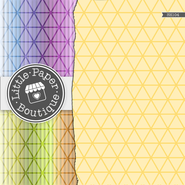 Rainbow Bold Triangle Digital Paper 3H104