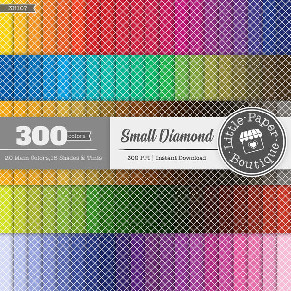 Rainbow Small Solid Diamond Digital Paper 3H107