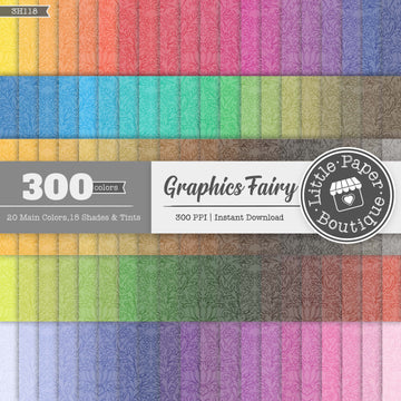 Rainbow Graphics Fairy Outline Damask Digital Paper 3H118