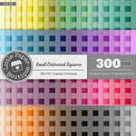 Rainbow Small Distressed Squares Digital Paper 3H128
