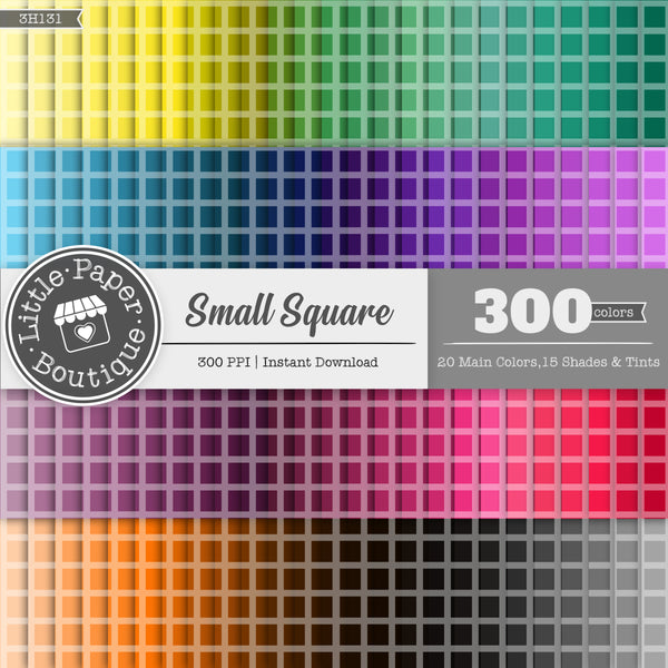 Rainbow Small Square Digital Paper 3H131