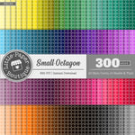 Rainbow Small Solid Octagon Digital Paper 3H139