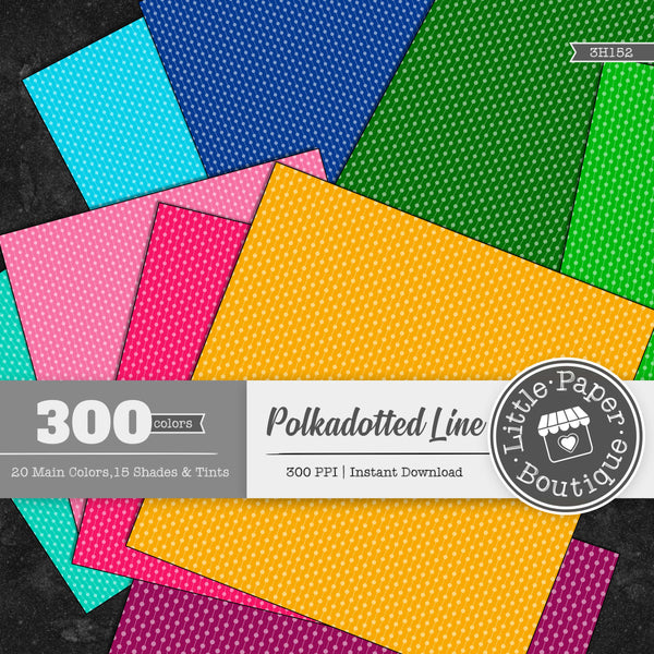 Rainbow White Solid Polka Dotted Line Digital Paper 3H152