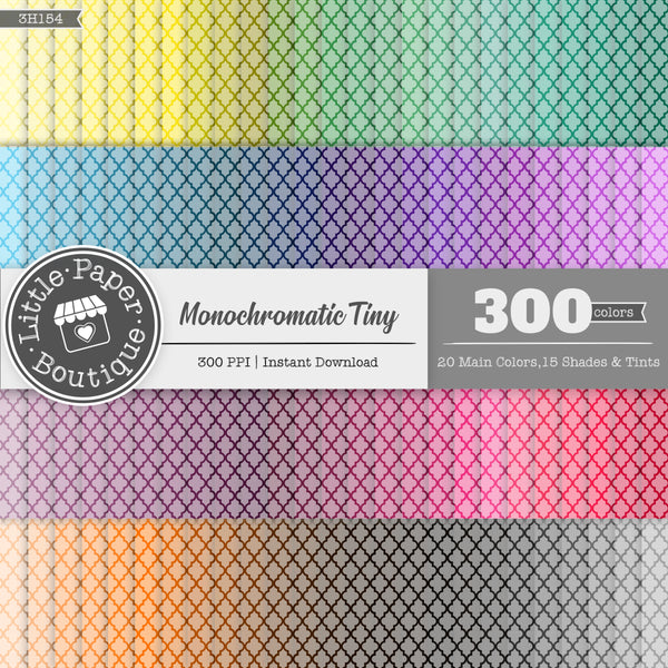 Rainbow Monochromatic Tiny Moroccan Tile Digital Paper 3H154