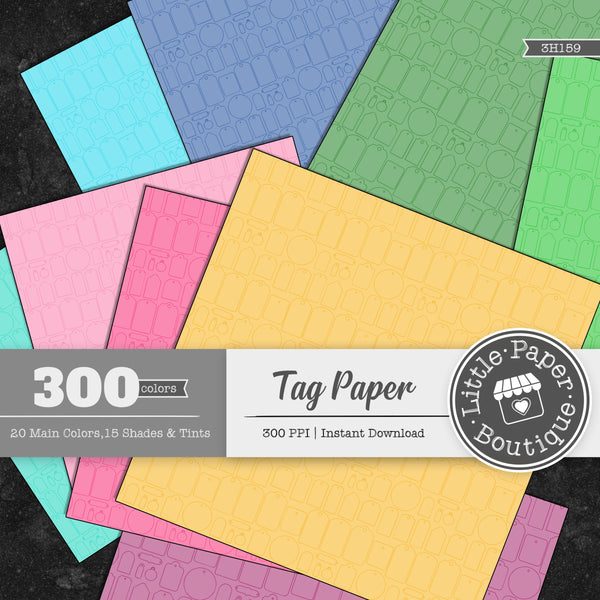 Rainbow Tag Paper Digital Paper 3H159