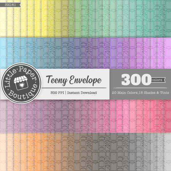 Rainbow Teeny Envelope Digital Paper 3H161