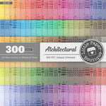 Rainbow Antique Architectural Digital Paper 3H168