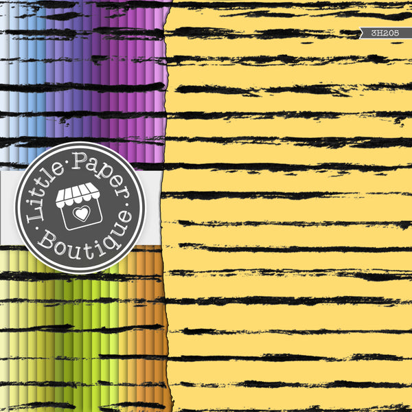 Rainbow Brush Strokes Digital Paper 3H205
