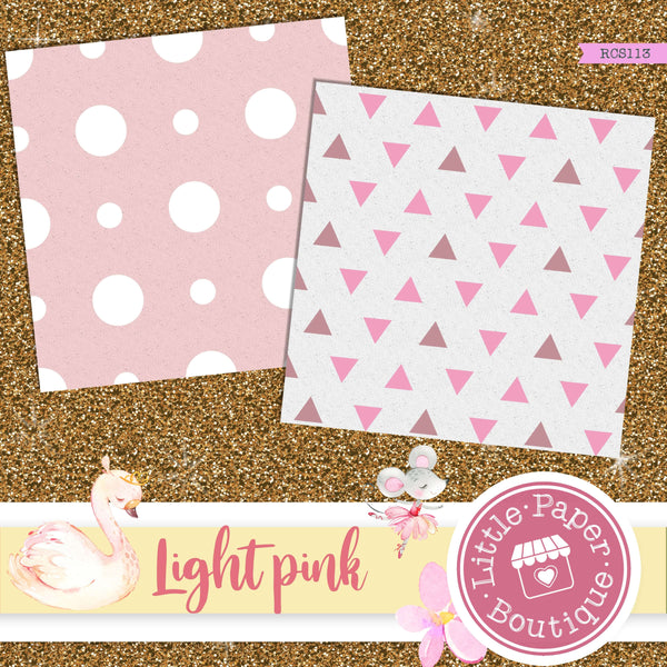 Light Pink Digital Paper RCS113