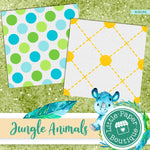 Jungle Animals Digital Paper RCS134