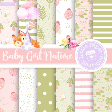 Baby Girl Nature 2 Seamless Digital Paper SCS0017