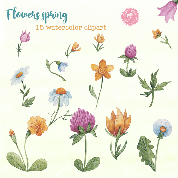 Flowers Spring Digital Clipart CA006