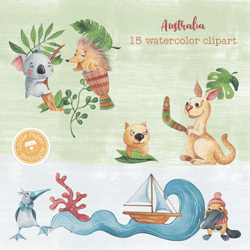 Australia Digital Clipart CA011