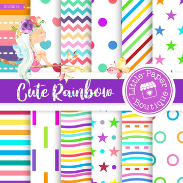 Cute Rainbow Seamless Digital Paper SCS0014