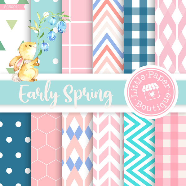 Early Spring Seamless Digital Paper SCS0011