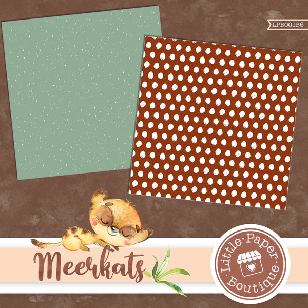 African Meerkat Watercolor Digital Paper LPB001B6