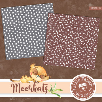 African Meerkat Watercolor Digital Paper LPB001B1