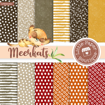 African Meerkat Watercolor Digital Paper LPB001B2