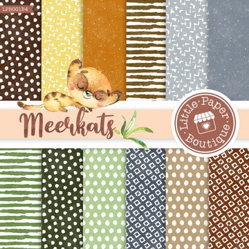 African Meerkat Watercolor Digital Paper LPB001B4