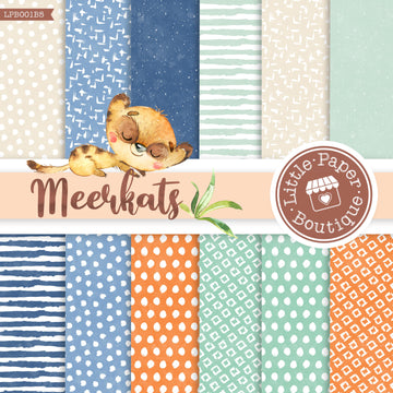 African Meerkat Watercolor Digital Paper LPB001B5