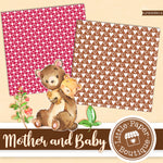 Bear Mother and Baby Digital Paper LPB003B14