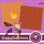 Halloween Digital Paper LPB003B25