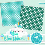Blue Unicorn Digital Paper LPB003B3