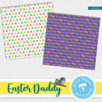 Easter Daddy Rabbit Watercolor Digital Paper LPB014B