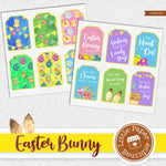Easter Bunny Watercolor Ephemera Tags Digital Paper LPB016C