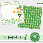 St Patrick's Day Watercolor Digital Paper LPB022A
